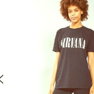TOP SHOP | Nirvana holey tee graphic band shirt